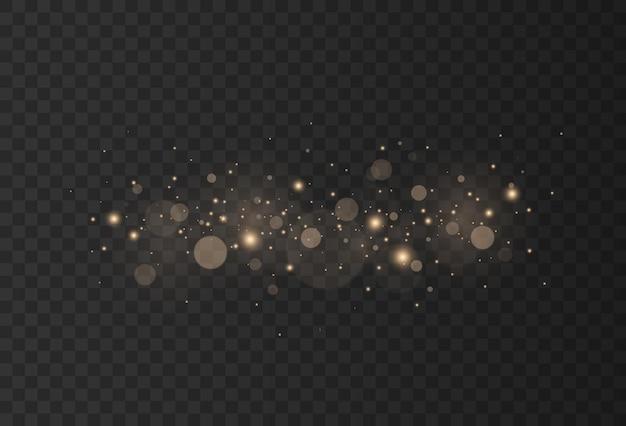 Particules de poussière d'or