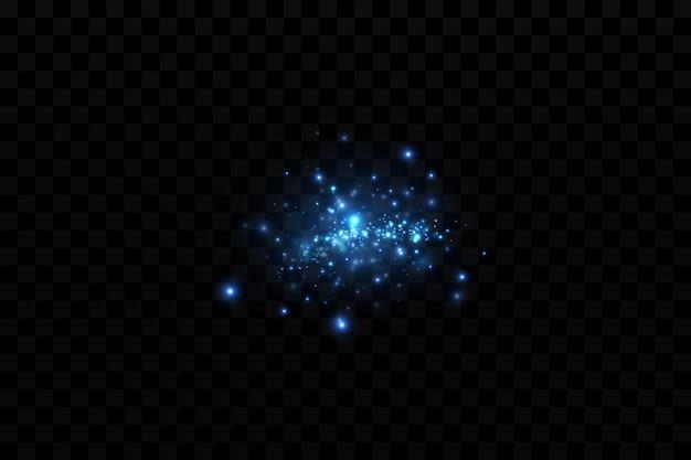 Particules scintillantes bleu vif décoration de fond