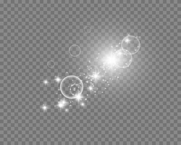Particules scintillantes de poussière magique