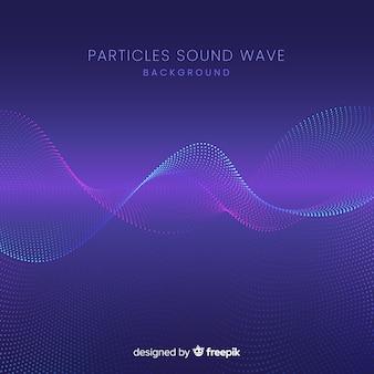 Particules sonores sombres vague fond