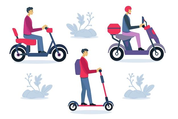 Particuliers conduisant des transports électriques