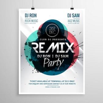 Partie du club remix modèle d'affiche flyer