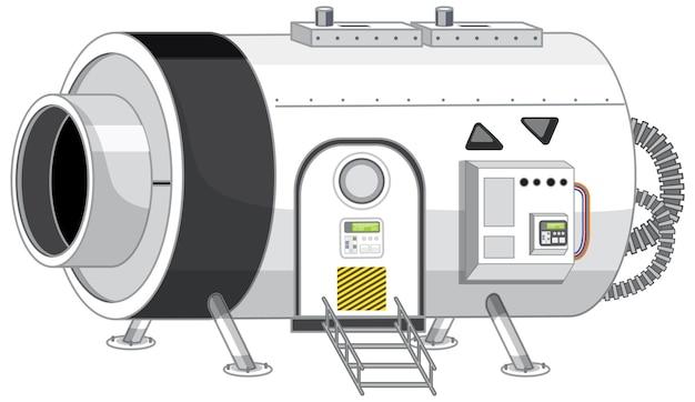 Une partie de la station spatiale isolée