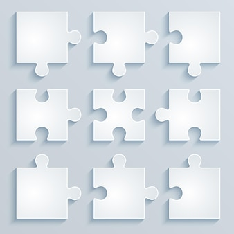 Parties de puzzles en papier. concept d'entreprise, modèle, mise en page, infographie.