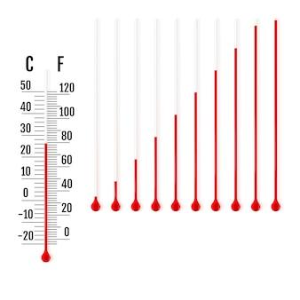 Parties de thermomètres à liquide.