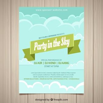 Party dans le ciel flyer