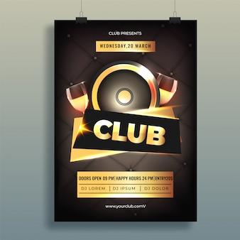 Party flyer design.