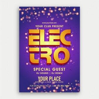 Party flyer electro violet