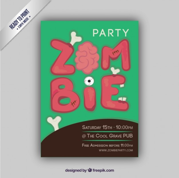 Party flyer zombie