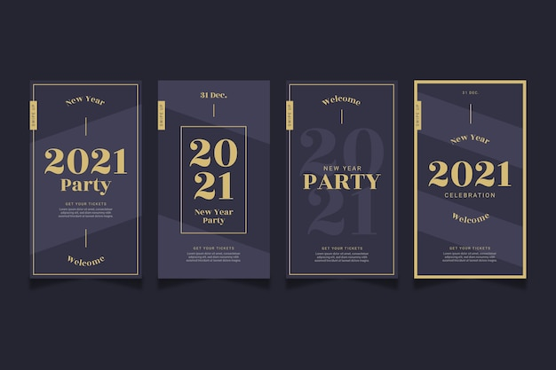 Party instagram stories nouvel an 2021