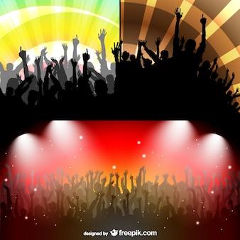 Party people lumières stroboscopiques mis