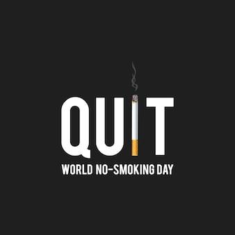 Pas de conception de jour de tabac