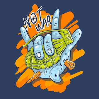 Pas l'illustration de la guerre