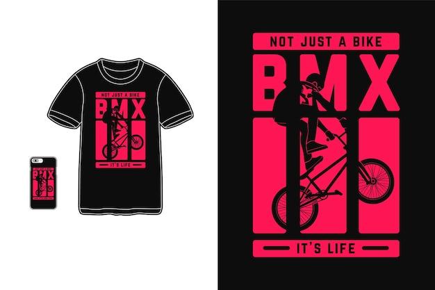 Pas seulement une conception de vélo pour un style rétro de silhouette de t-shirt