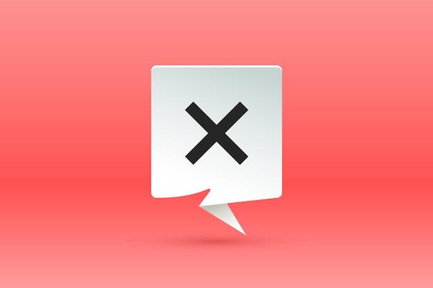 Pas de signe. bulle de dialogue papier, discours sur le nuage et message