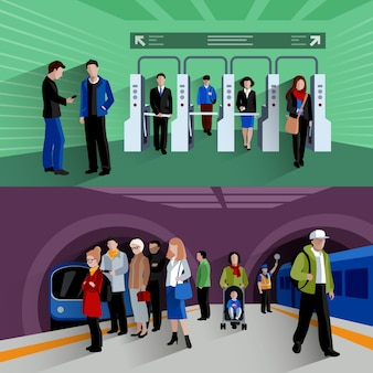 Passagers du métro