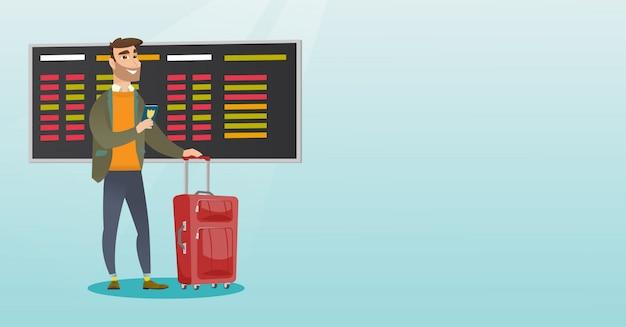 Passeport de passager avion caucasien.
