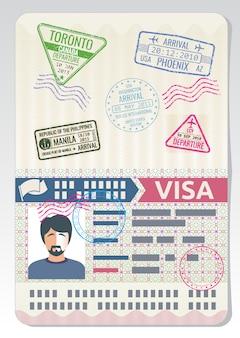 Passeport personnalisé ouvert