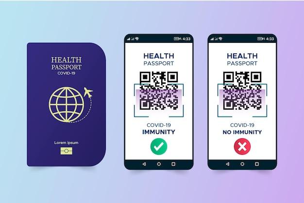 Passeport de santé plat