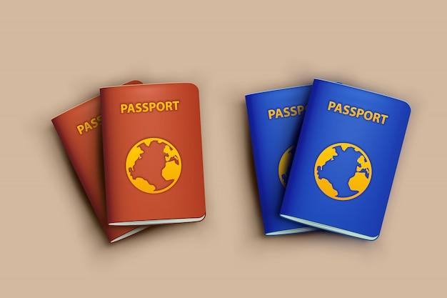 Passeports avec des ombres