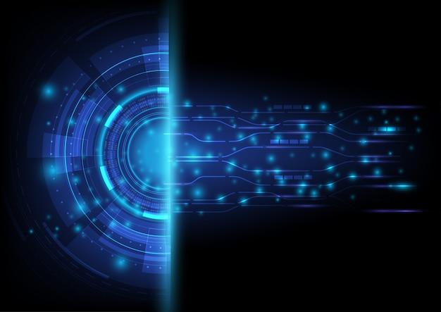 Passerelle abstraite futuriste et numérique pour la présentation d'affaires et de technologie.