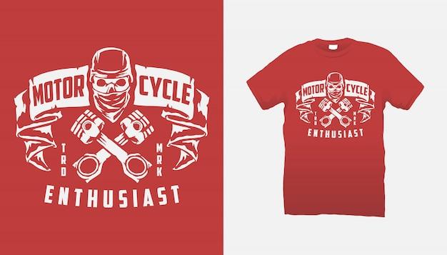 Passionné de moto tshirt design