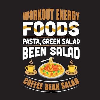 Pasta citer et dire. pâtes alimentaires énergétiques