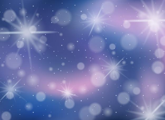 Pastel arc-en-ciel flou avec fond d'étincelles