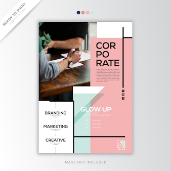 Pastel cover annual report modèle corporatif
