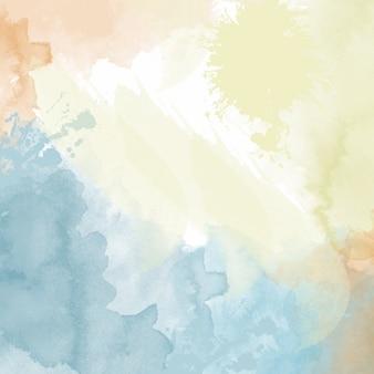 Pastel fond d'aquarelle