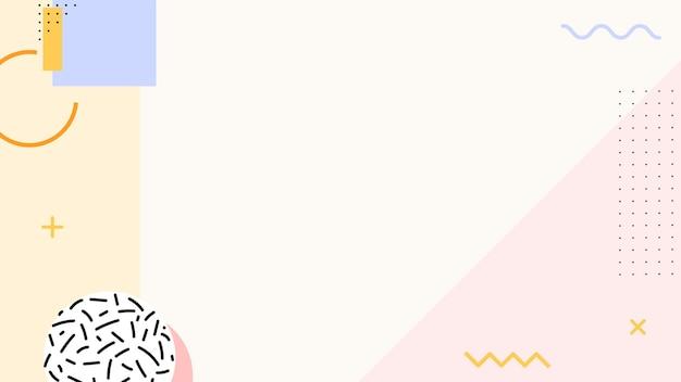 Pastel memphis blog bannière fond vecteur