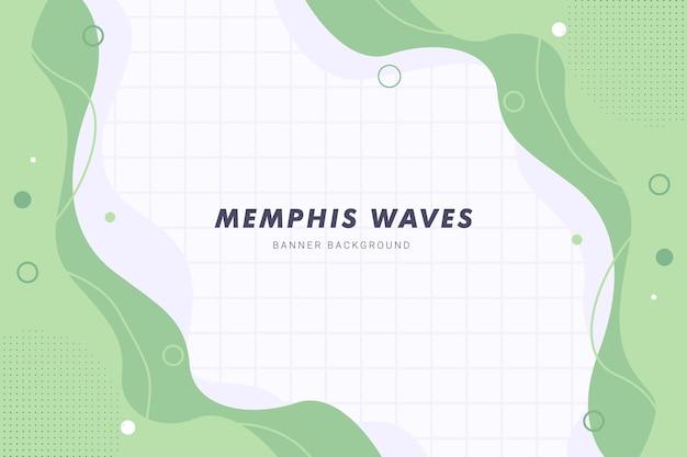 Pastel pink memphis waves liquid abstract background pour la conception de modèle de bannière flyer brochure