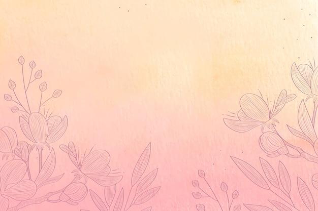 Pastel en poudre avec des éléments dessinés à la main - fond
