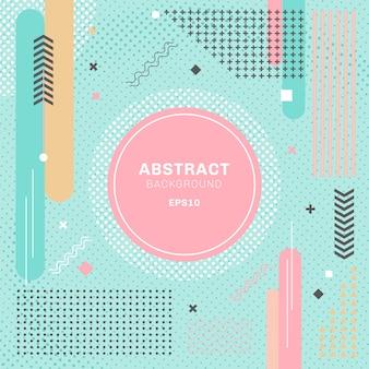 Pastels abstraits couleur fond géométrique