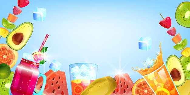 Pastèque de boisson glacée aux fruits d'été