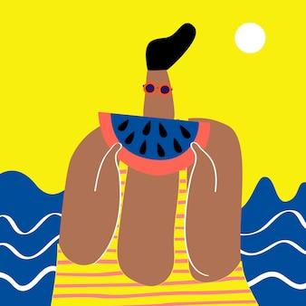 Pastèque à la plage