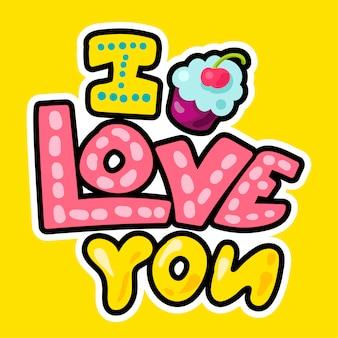 Patch d'amour romantique de vecteur dans le style doodle
