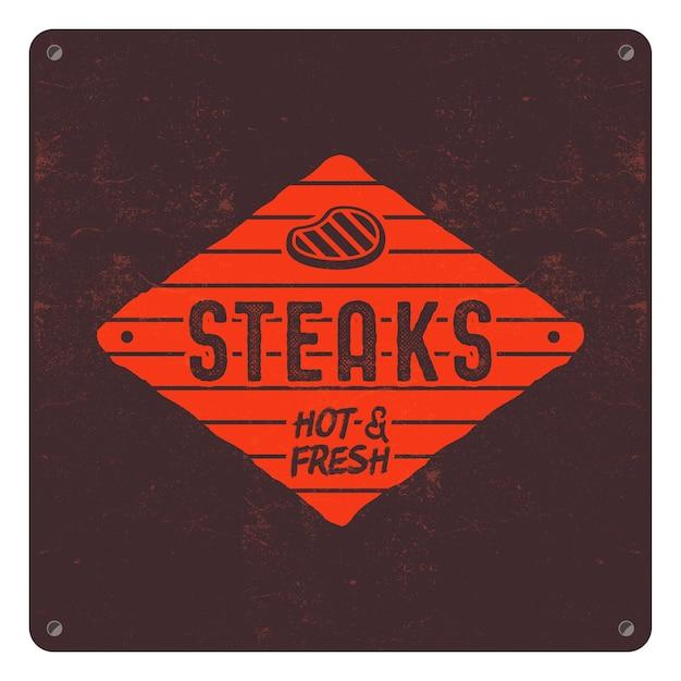 Patch de style ancien de steaks.