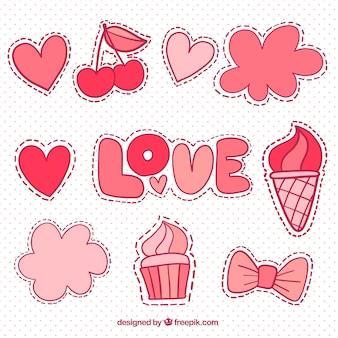 Patches d'amour mignon