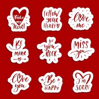 Patchs d'amour et stickers