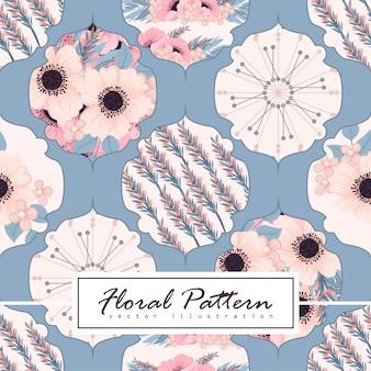 Patchwork abstrait avec motif de fleurs