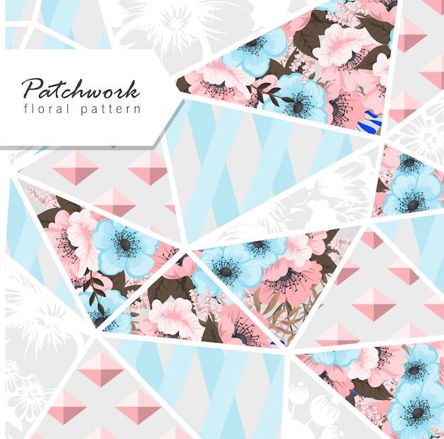 Patchwork fond floral