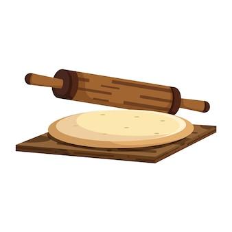 Pâte et rouleau à pâtisserie