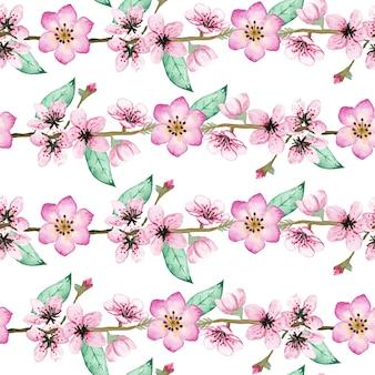 Patern floral aquarelle transparente