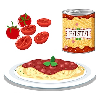 Pâtes à la sauce tomate simple