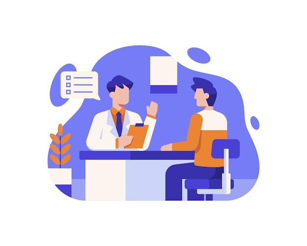 Un patient consulte un médecin à l'hôpital