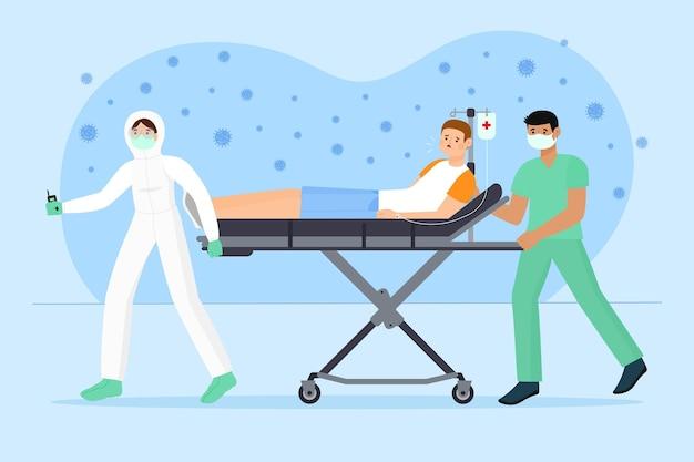 Patient critique du coronavirus