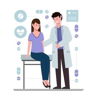 Patient passant un examen médical