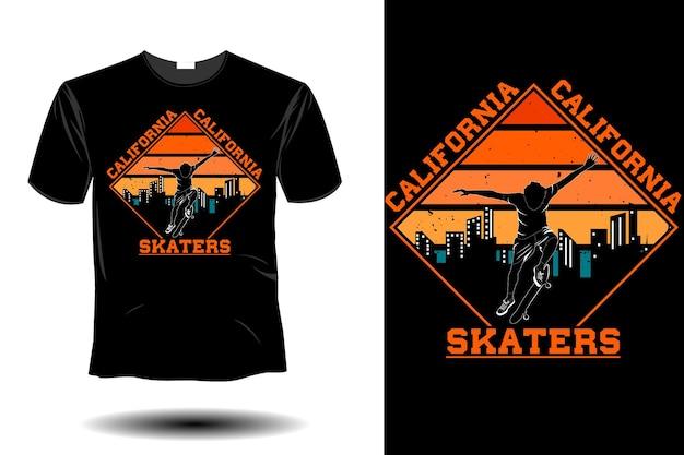Les patineurs californiens simulent un design vintage rétro
