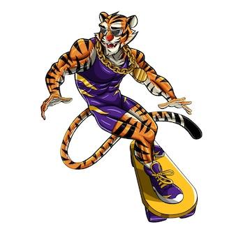 Patineurs tiger man
